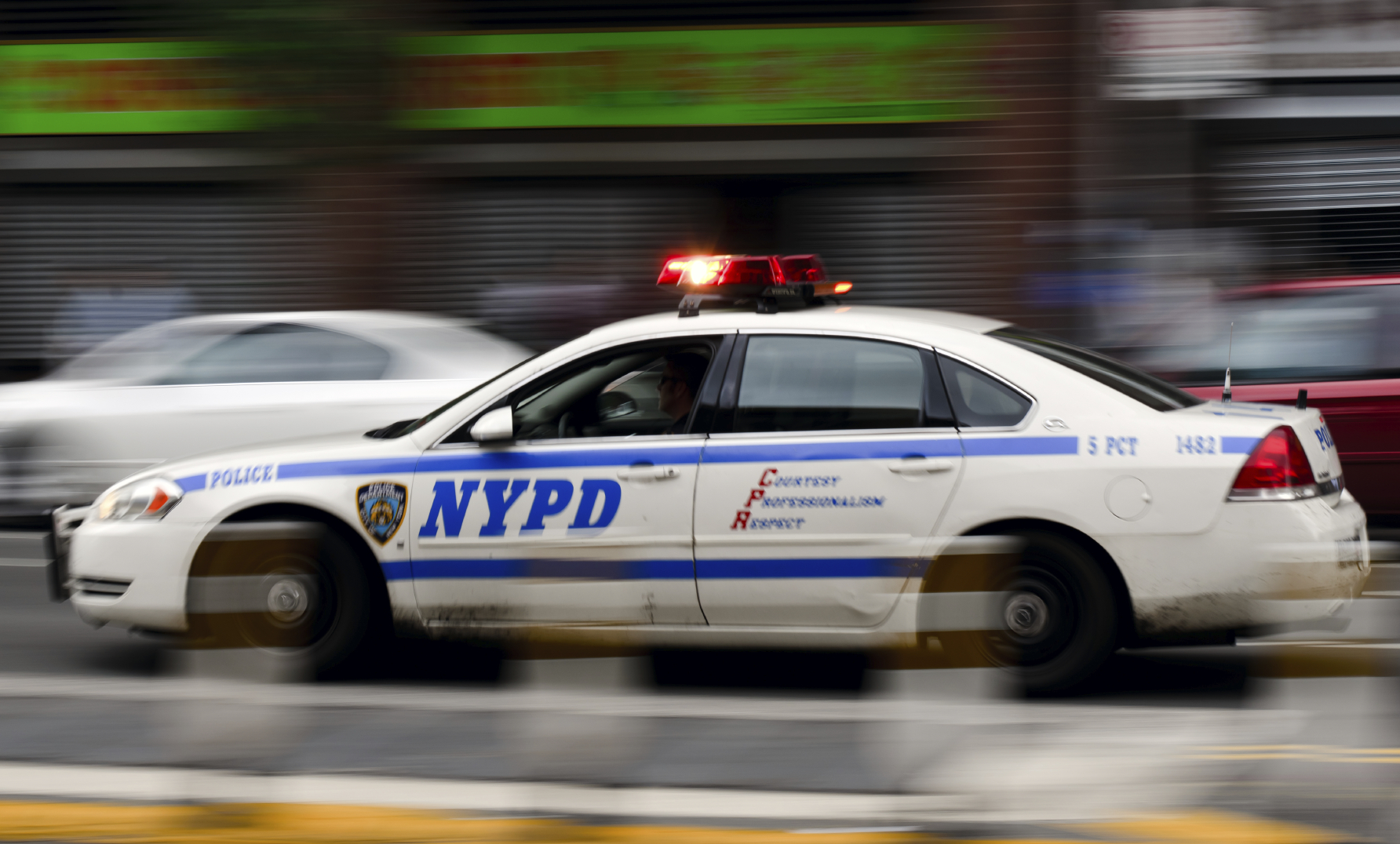 New York Police Car Speeding in NYC